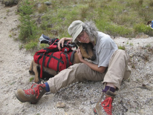 Karen Bean photographer and pack goat